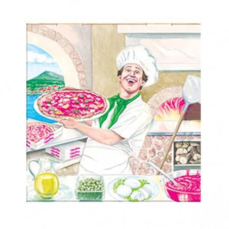 Cajas para Pizza 33x33x3,5 Vegetal (100Uds)