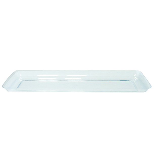 Bandeja Plastico Degustacion Water Green 6,5x19 cm (50 Uds)