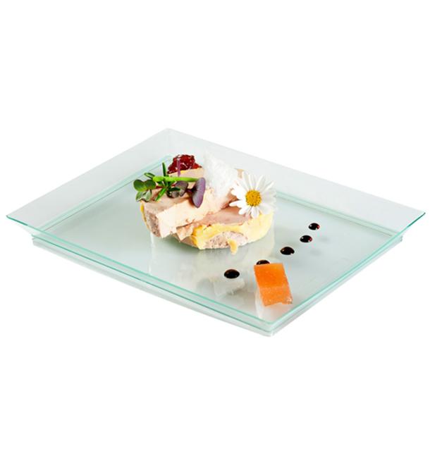 Bandeja de Plastico Water Green Extra Rigida 13x18cm (80 Uds)