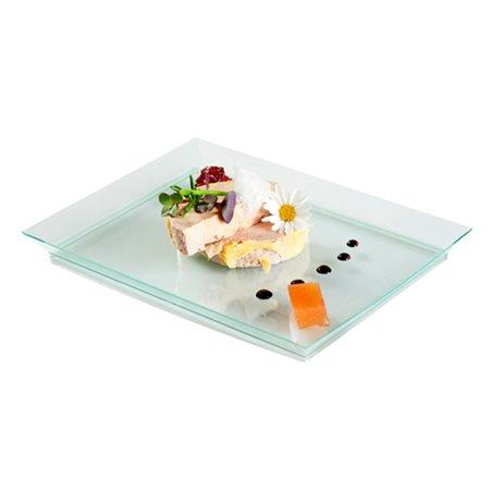 """Bandeja de Plastico Extra Rigida """"Water Green"""" 13x18cm (80 Uds)"""