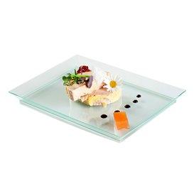 """Bandeja de Plastico Extra Rigida """"Water Green"""" 13x18cm (4 Uds)"""