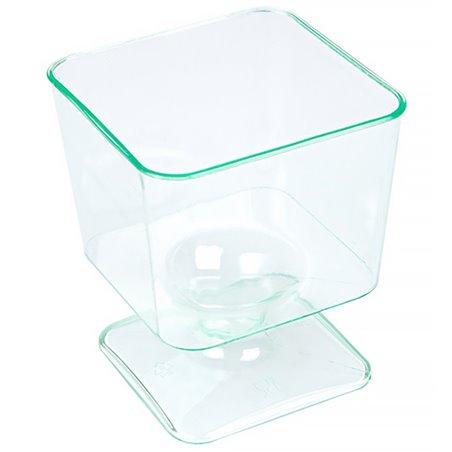 """Copa de Plastico Cuadrada """"Water Green"""" 60 ml (288 Uds)"""