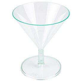 Copa de Plastico Verde Transparente 65ml (12 Uds)