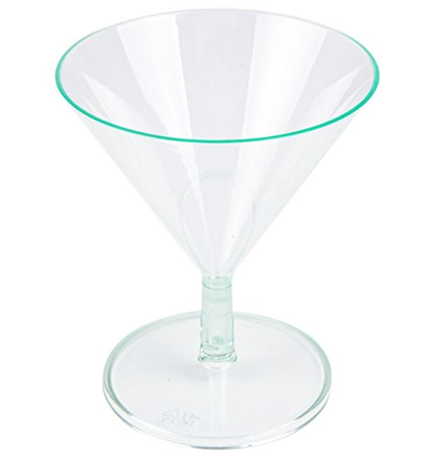 Copa de Plastico Verde Transparente 65ml (144 Uds)