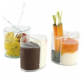 Vaso de Plastico Doble Degustacion Transp. 60ml (500 Uds)