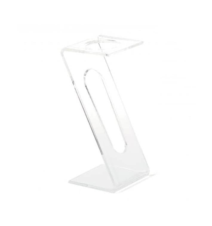 Stand de Plastico para Copas 1 Hueco Transp. (2 Uds)