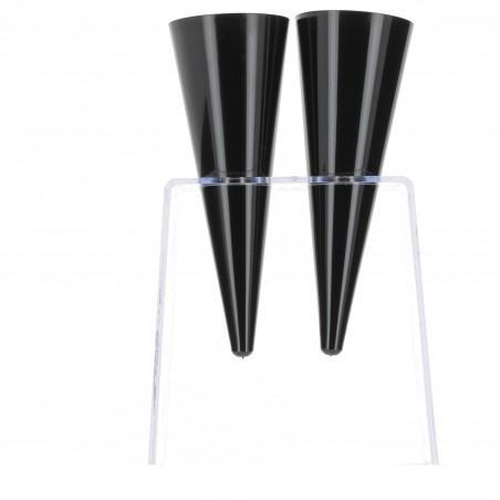 Stand de Plastico para Copas 2 Huecos Transp. (2 Uds)