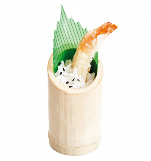 Vaso de Bambu Degustacion Truncado 5x9cm (200 Uds)