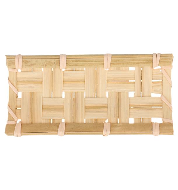 """Bandeja de Bambu """"Trenzado"""" 10,5x5cm (24 Uds)"""