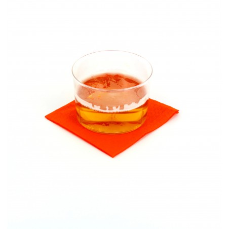 Servilleta de Papel Cocktail 20x20cm Naranja (100 Uds)