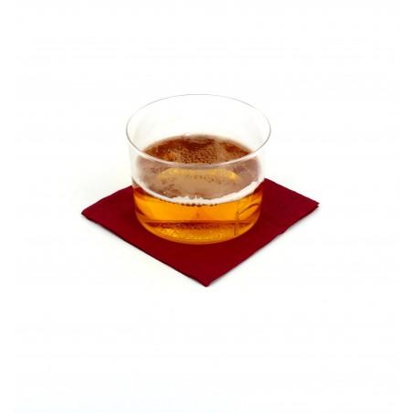 Servilleta de Papel Cocktail 20x20cm Burdeos (100 Uds)