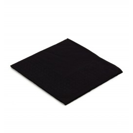 Servilleta de Papel Cocktail 20x20cm 2C Negra (6.000 Uds)
