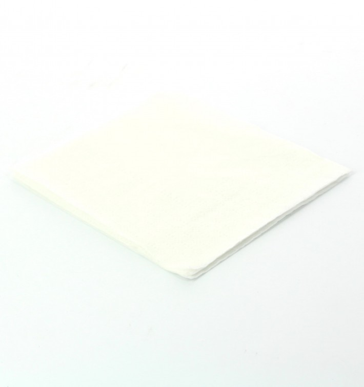 Servilleta de Papel Cocktail 20x20cm 2C Blanca (6.000 Uds)