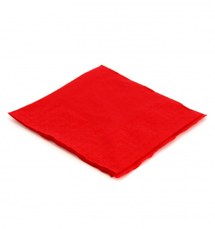 Servilleta de Papel Cocktail 20x20cm 2C Roja (100 Uds)