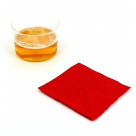 Servilleta de Papel Cocktail 20x20cm Roja (100 Uds)