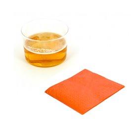 Servilleta de Papel Cocktail 20x20cm Naranja (100 Uds)