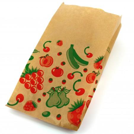 Bolsa Kraft para Fruta 14+7x28cm (1000 Unidades)