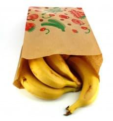 Bolsa Kraft para Fruta 18+10x28cm (1000 Uds)