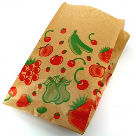 Bolsa Kraft para Fruta 22+12x36cm (250 Uds)