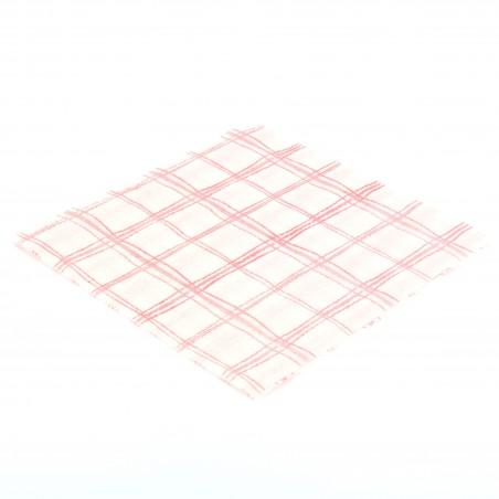 Servilleta de Papel 33x33 Cuadros Rojos 1 Capa (3.840 Uds)