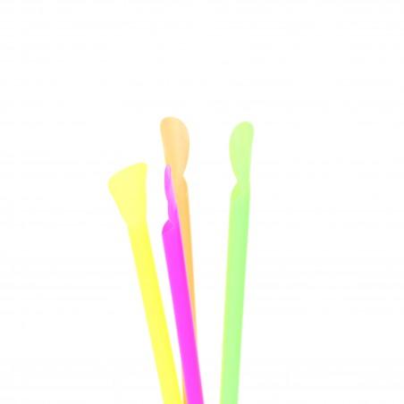Pajita Cuchara Recta 4 colores Ø6mm 20cm (250 Uds)