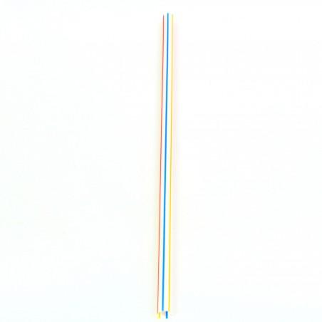 Pajita Recta para Granizado Rayadas Ø6mm 20cm (1000 Uds)