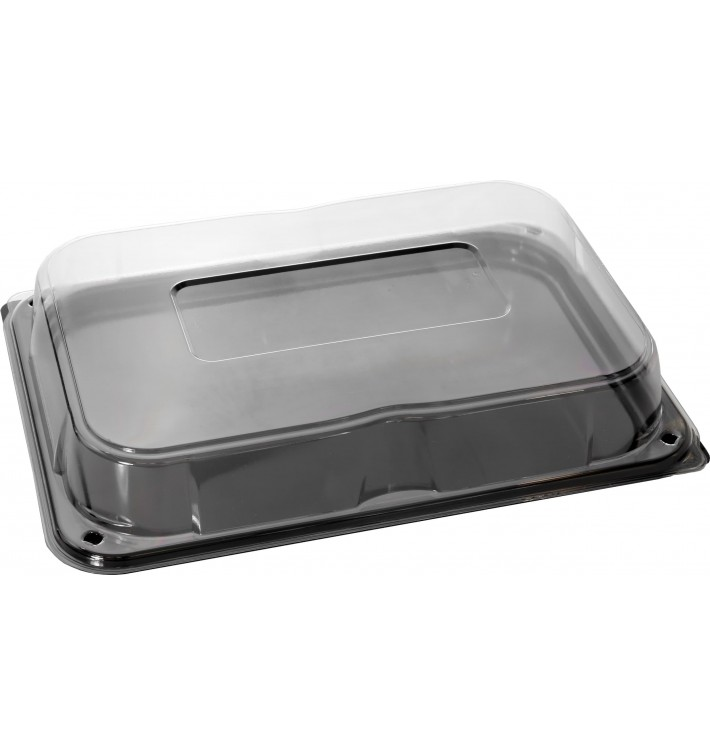 Bandeja Plastico Catering Tapa Negro 35x24 cm (25 Uds)